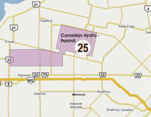 Parkhill Map - Canadian Hydro - 25 Wind Turbines