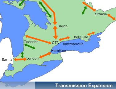 Transmission expansion: click map to see details.