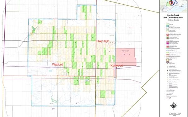 NextEra Hardy Creek map