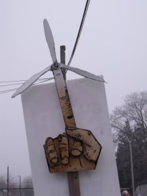 middle finger turbine