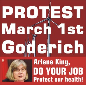 Goderich Protest King