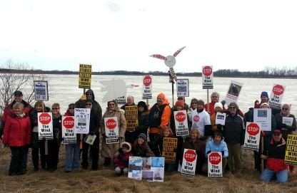 lambton swan protest